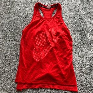 Nike - red jersey tank top!
